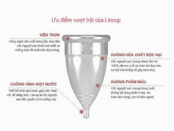Ưu điểm của của Cốc nguyệt san Lincup